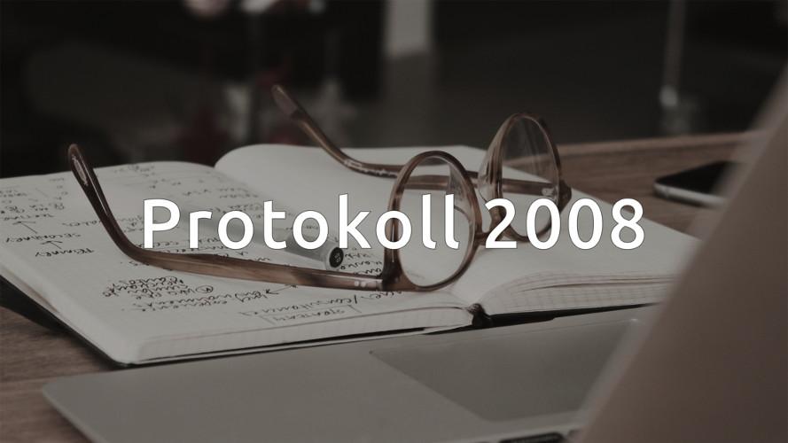 Styrelseprotokoll 2008