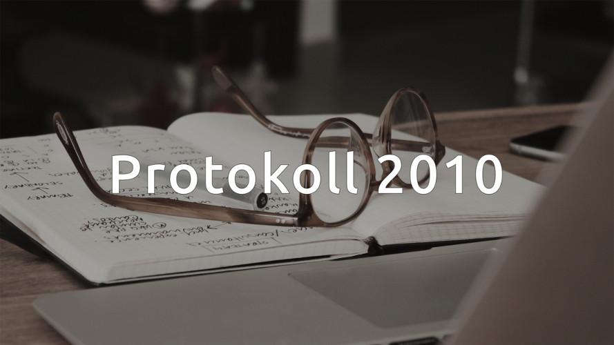 Styrelseprotokoll 2010