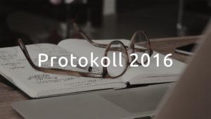 Styrelseprotokoll 2016